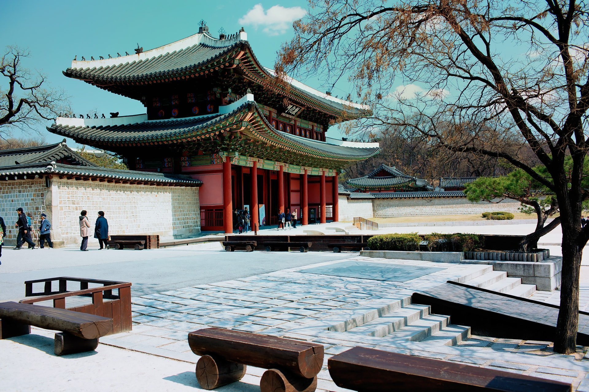 entrance of changdeokgeong palace in seoul south korea