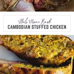 Cambodian stuffed chicken recipe