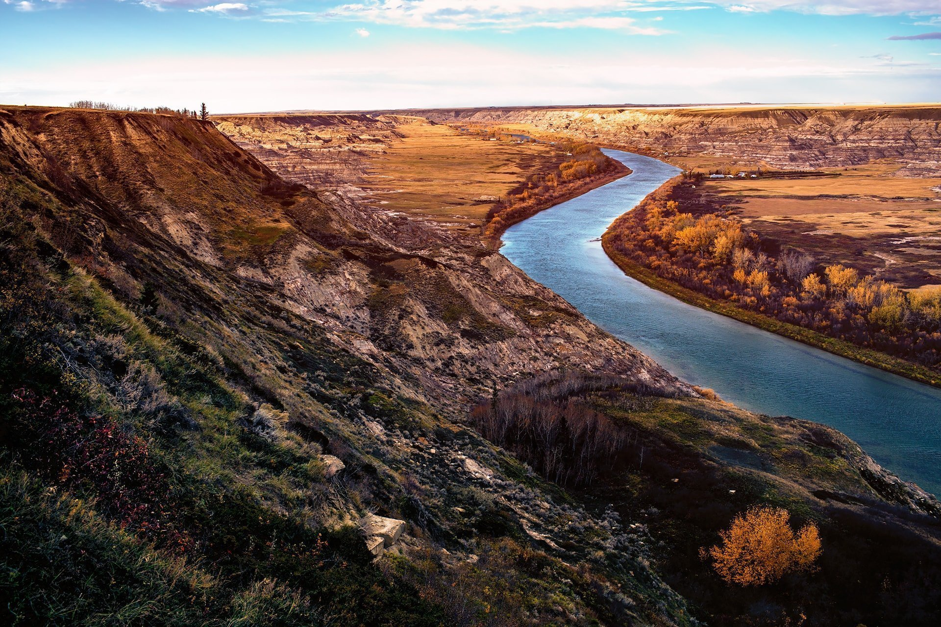 Orkney Viewpoint at Drumheller a short drive from Horseshoe Canyon