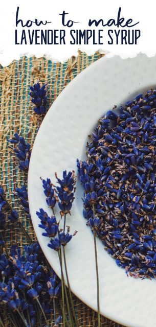 Lavender Simple Syrup Recipe with Real Lavender Flowers