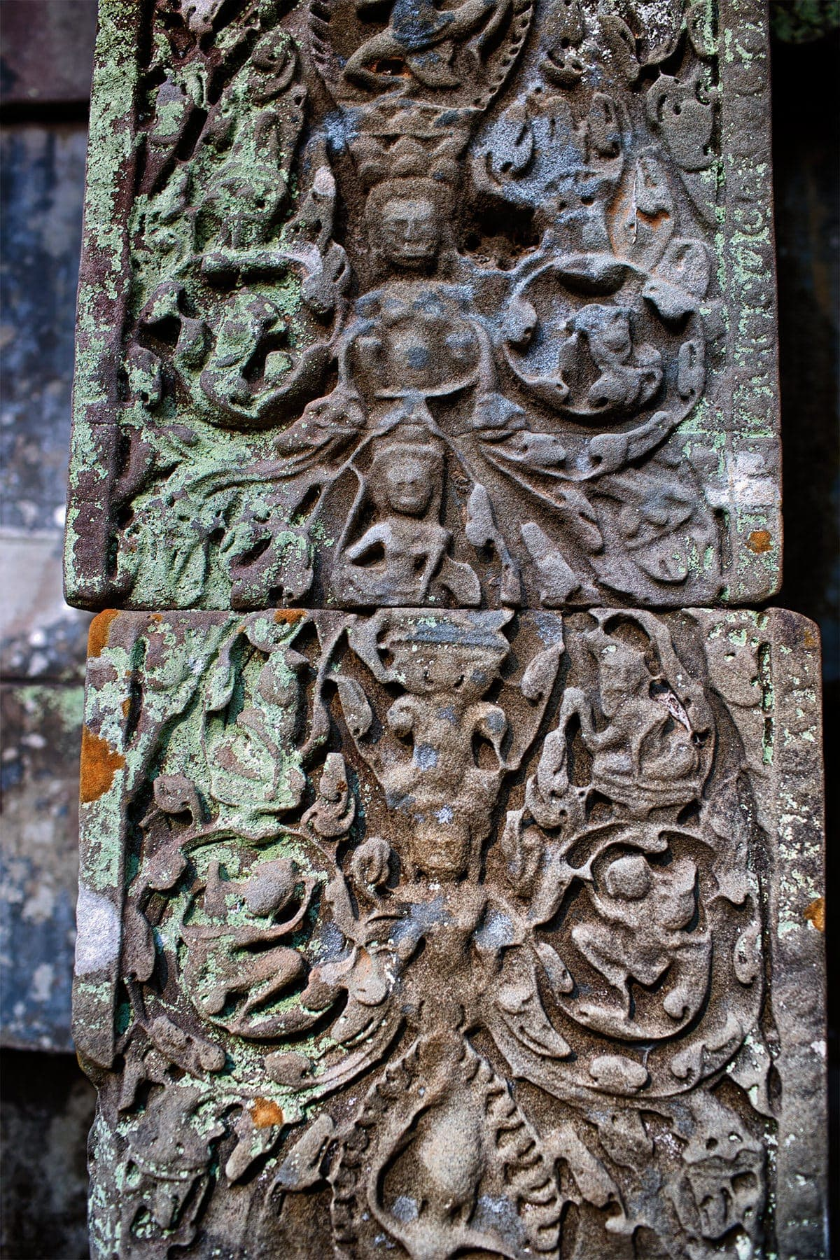 Beng Mealea ancient temple carvings