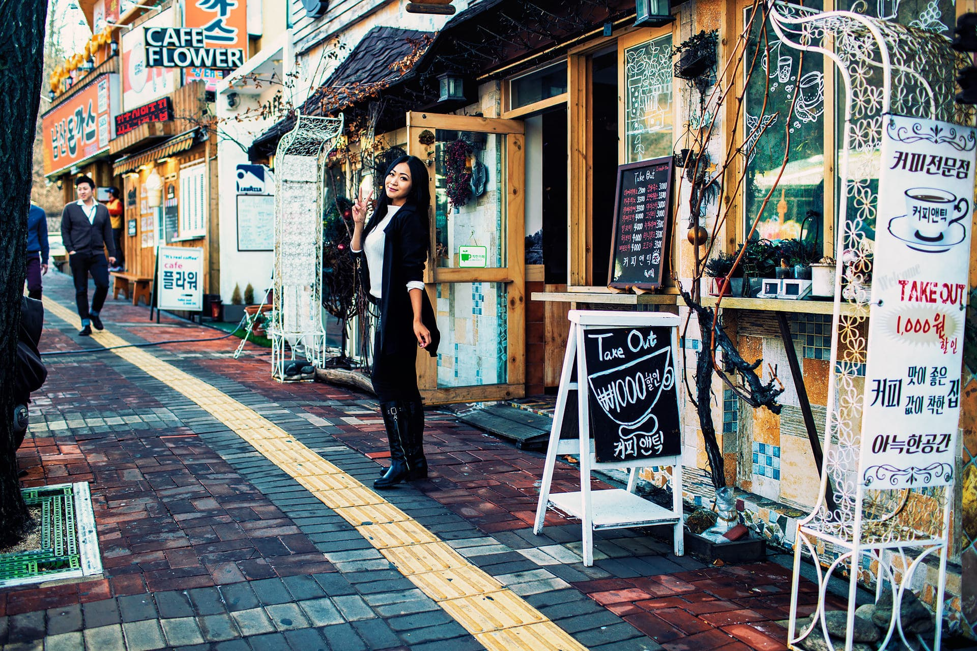 Cute Cafe near N Seoul Tower in South Korea