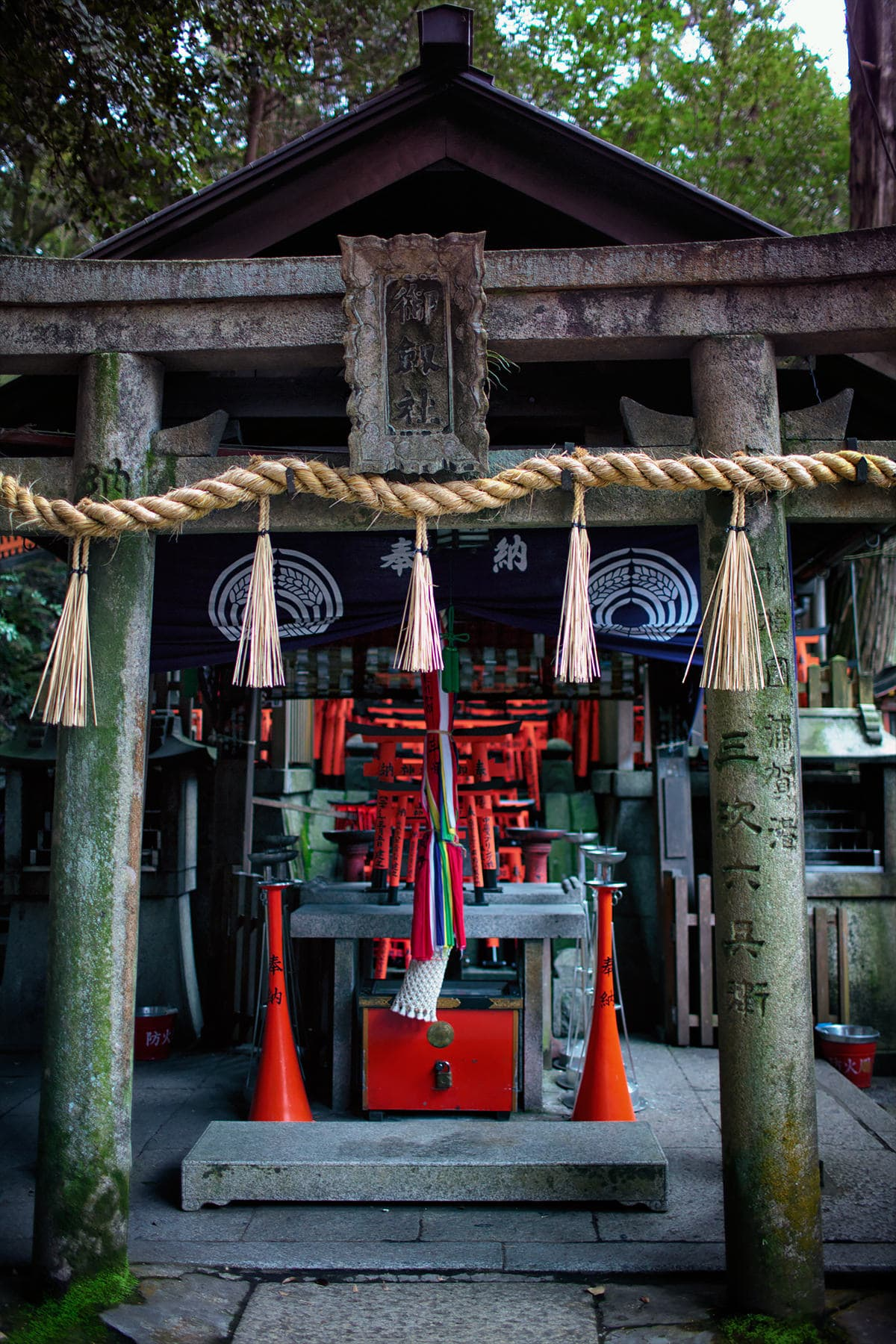 Interesting shrine on the outskirts in fushimi inari taisha shrine
