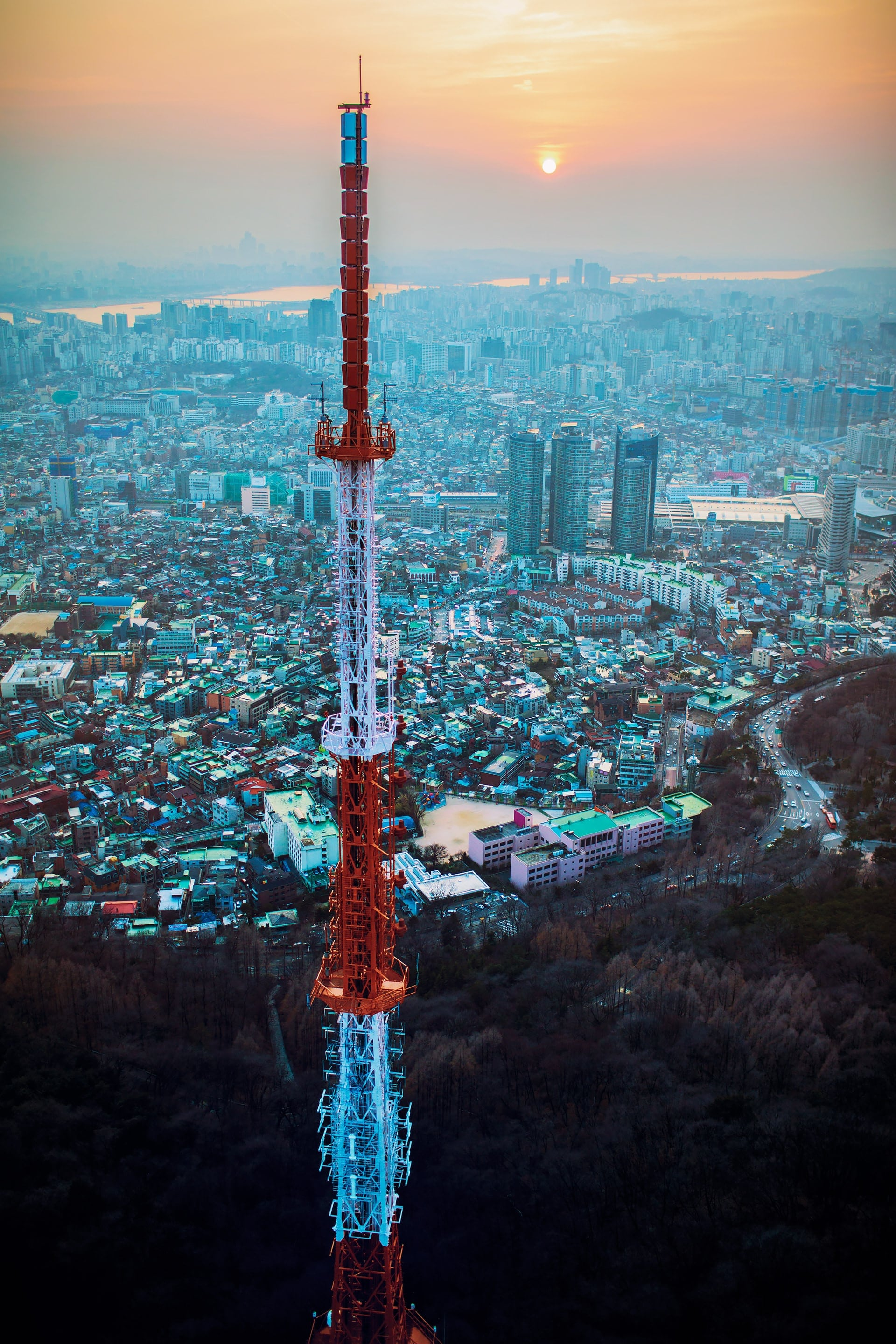 Sunset view from Seoul Tower