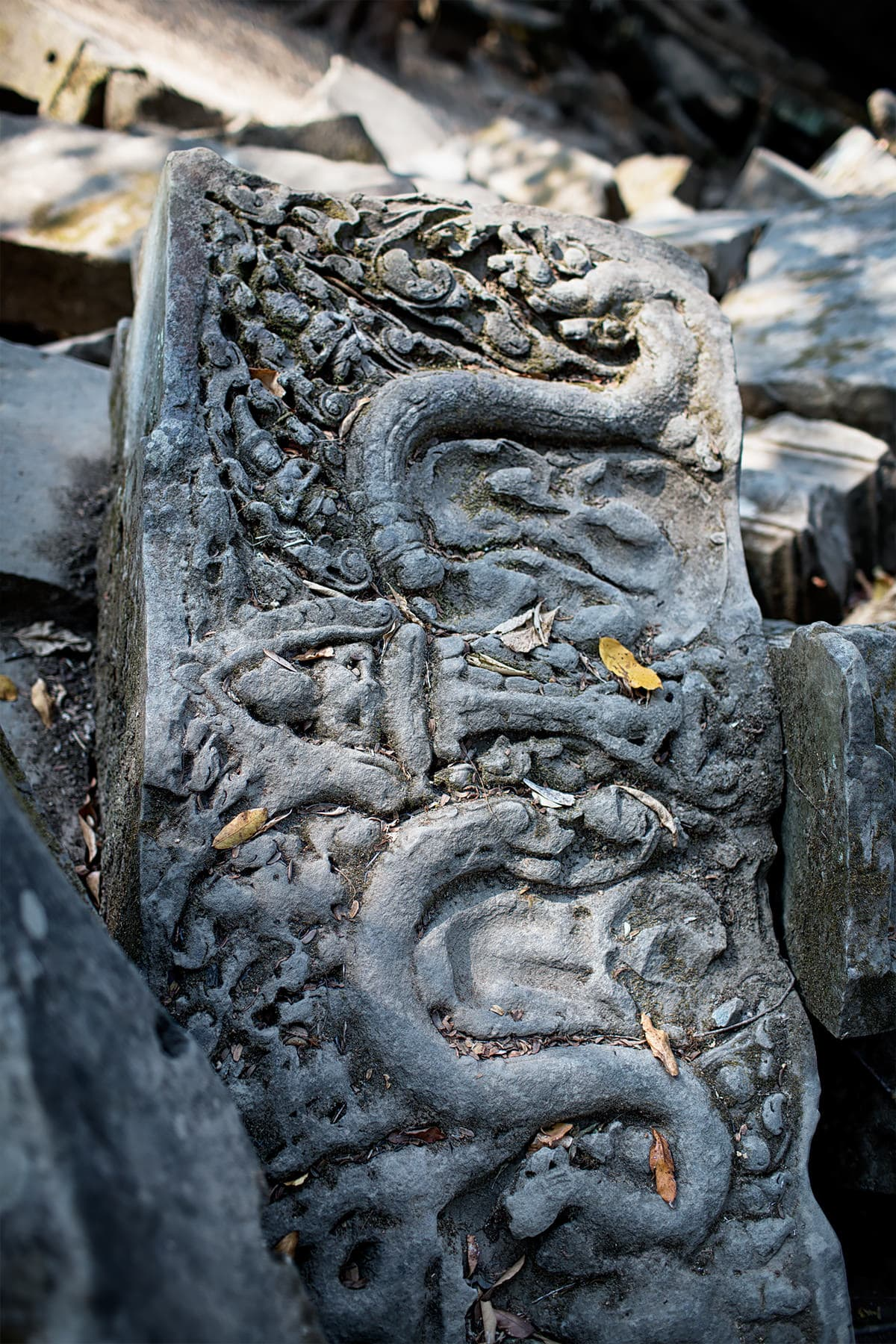 destroyed relief at Beng Mealea Angkor Temple