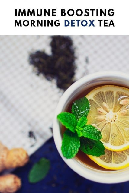 Immune Boosting Lemon Ginger Tea Detox Recipe