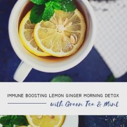 immune boosting lemon ginger detox drink recipe