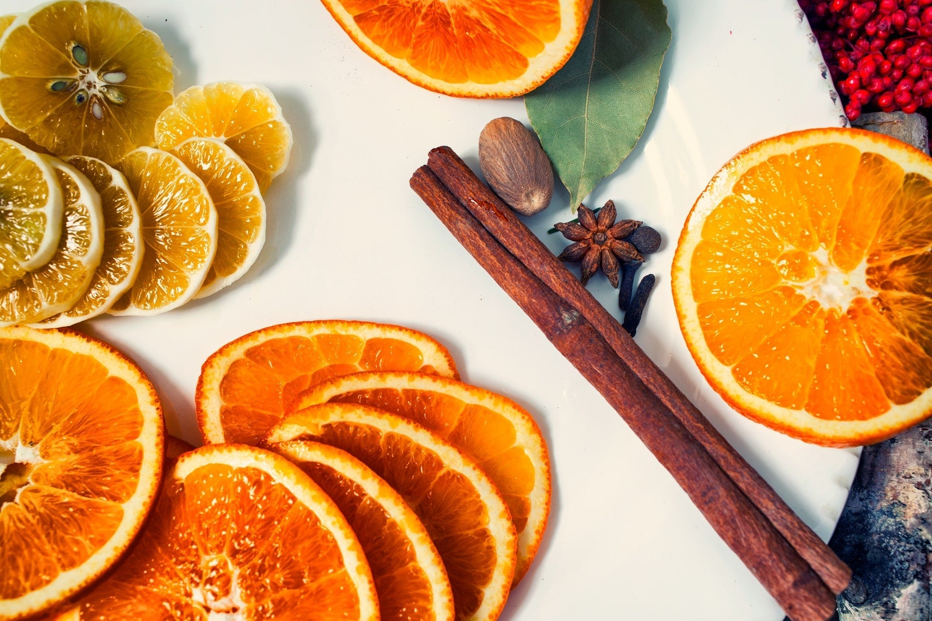 Ingredients for mulled wine recipe