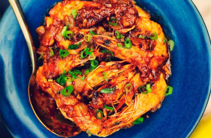 Spicy Garlic Shrimp Recipe in a Lemon Lime Sauce